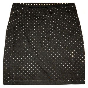 Black & Gold Stud Skirt